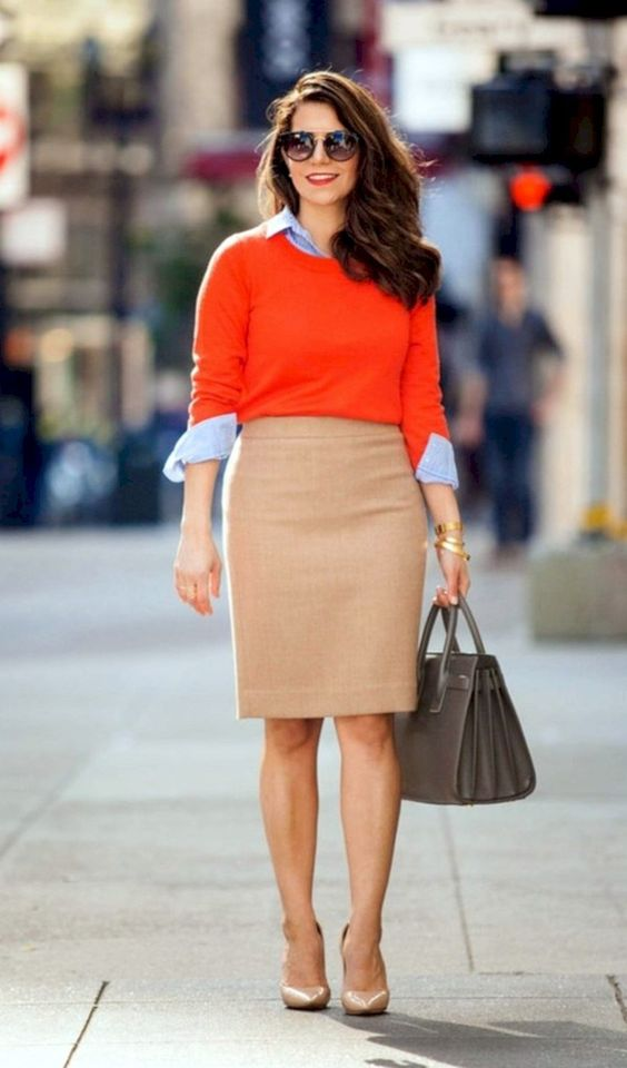 Trendy business casual work outfit for women (2) - Fashionetter