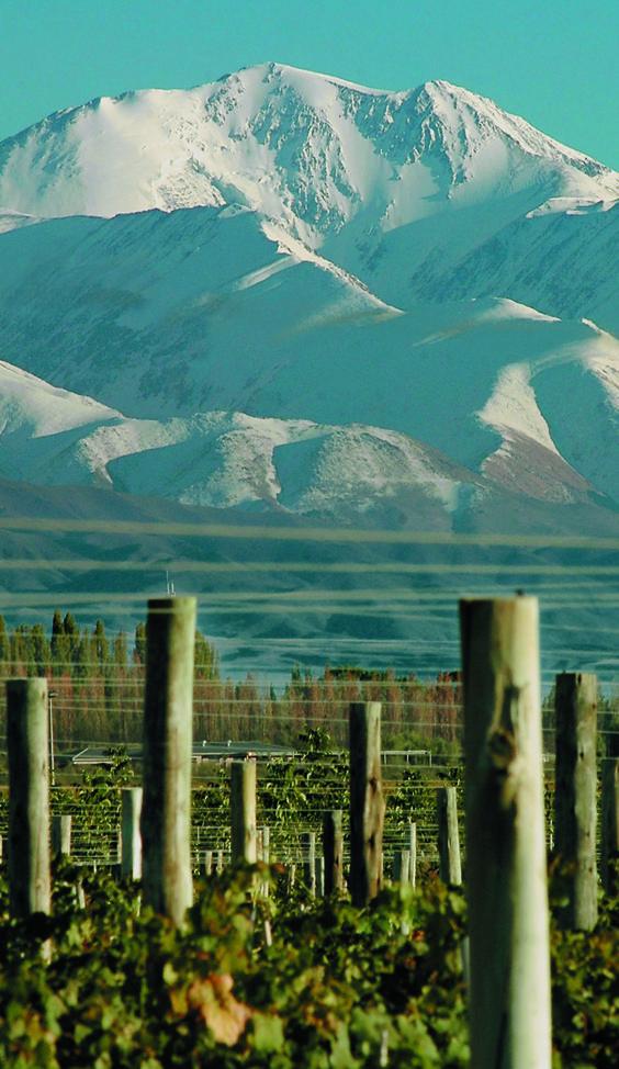 Mendoza wine country in winter, Argentina HERMOSA Y ACOGEDORA CIUDAD.