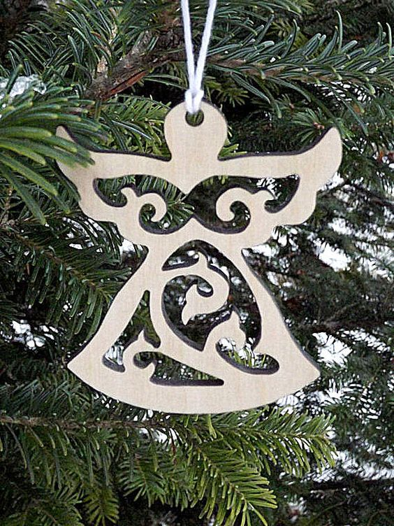 Wooden Angel Ornaments Christmas Angel Ornaments Christmas