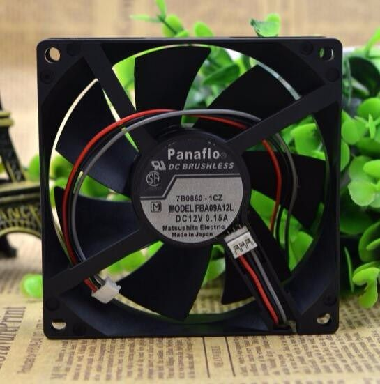 Wholesale Fba09a12l 9025 0 15a 12v Three Wire Speed Fan Chassis Fan