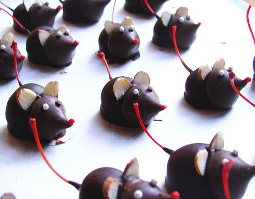 chocolate cover cherries with a heresy kiss n almonds