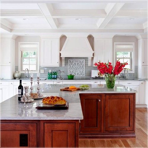L Shaped Kitchen With Diagonal Island