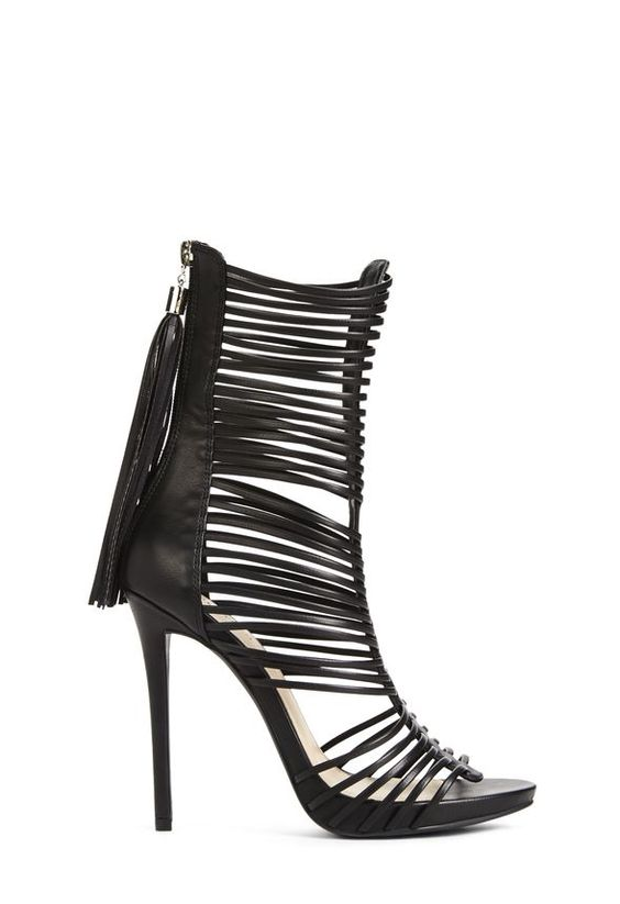 Look at you, you sexy goddess. Wylla is a sandal heel that features a super strappy design. l JustFab