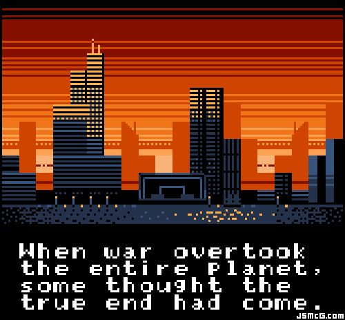 love this video game end of the world screen