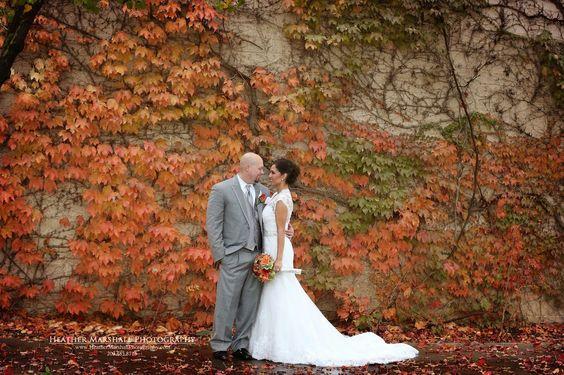 Fall wedding inspiration | Heather Marshall Photography | Fall wedding | bride and groom photos
