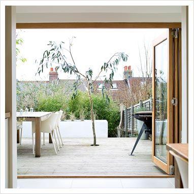 Glass doors doors and decking on pinterest for Sliding glass doors onto deck