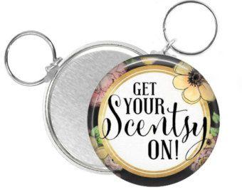 Scentsy Button Keychain