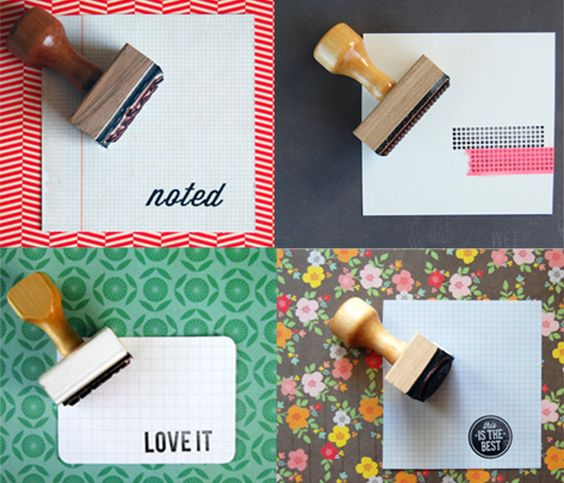 So clever! Rubber Stamps by annmarielovespaper