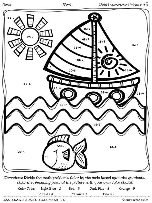 Pre School Worksheets » Division Coloring Worksheets 5th Grade ...