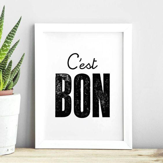 C'est Bon http://www.notonthehighstreet.com/themotivatedtype/product/c-est-bon-inspirational-typography-print @notonthehighst #notonthehighstreet