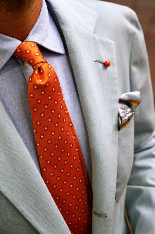 : Men S Style, Orange Tie, Men S Suit, Men Fashion, Mensfashion, Men Ties, Mens Ties
