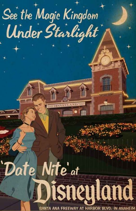 """In the '50s and '60s, Disneyland promoted special """"Date Nites."""" So if you recently went steady or got pinned, this was the place to be. This is so cool. I wish they would bring it back"""