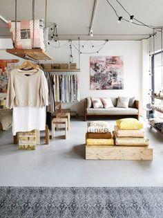 hanging cloth rack  // Ankleidezimmer selber bauen - Bastelideen, Anleitung und Bilder