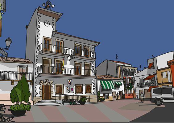 Torremolinos, Málaga Lámina impresa 21x30 cm Enmarcada