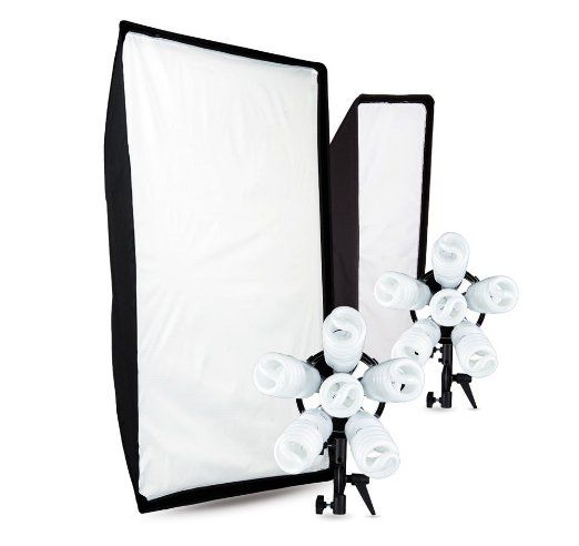 Westcott Spiderlite TD6 2-Light Promo Kit. One big softbox and one strip bank to make all my continuous lighting dreams come true.