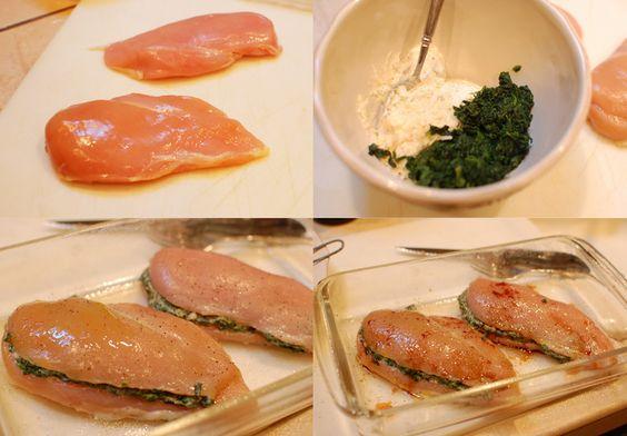 Pechuga de pollo rellena con espinacas y... ¡al horno! - Recetín