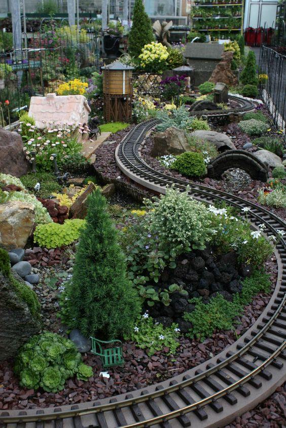 See This Train Chug Through The Miniature Garden At Our Fair Oaks Store Miniature Gardens