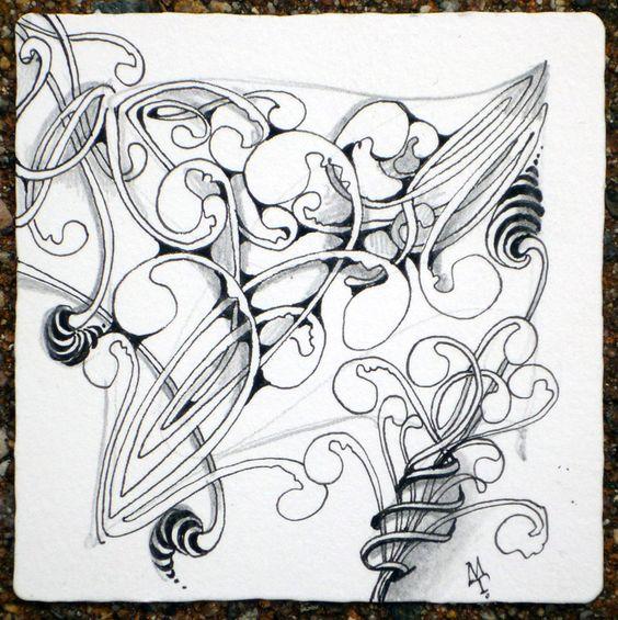 Mooka Variation by Maria Thomas, Zentangle Founder: Mooka Zentangle, Zentangles Doodles, Zentangle Design, Art Zentangle, Zentangle Doodle, Art Doodles Zentangles, Zentangle Inspiration, Doodles Zentangles Rangoli