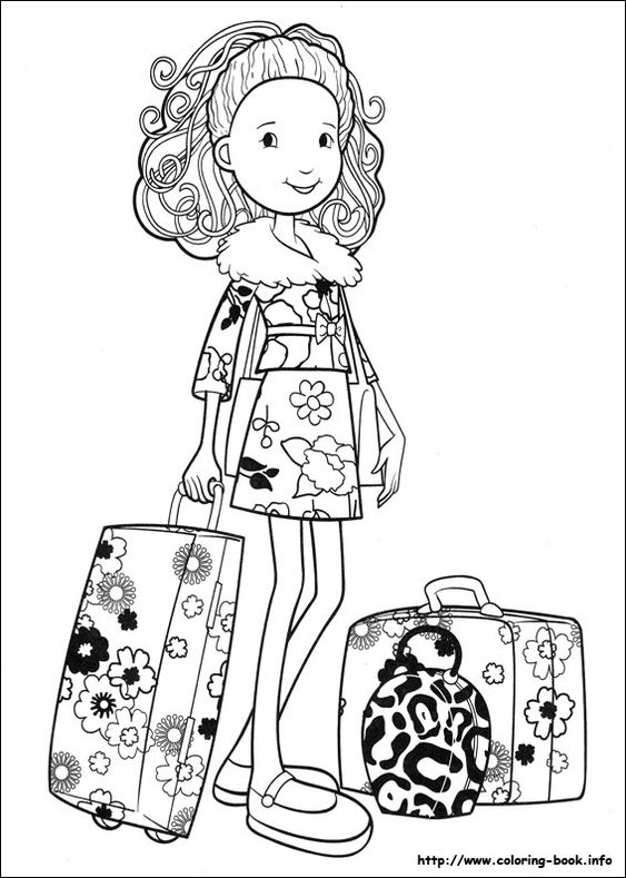 Groovy girls coloring picture coloring pinterest for Groovy coloring pages