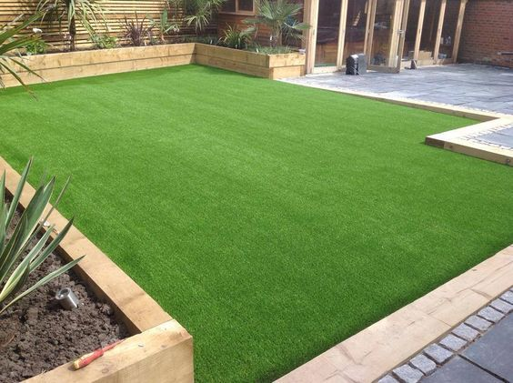 Supplier High Quality Synthetic Turf Looks And Feels Real Perfect For Hot Climates With Water R Backyard Landscaping Designs Backyard Backyard Garden Design