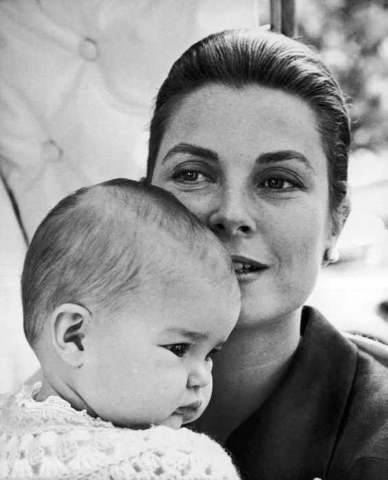 Princess Grace pictured with her daughter Princess Stephanie in 1965. Reportage by Cecil Beaton.