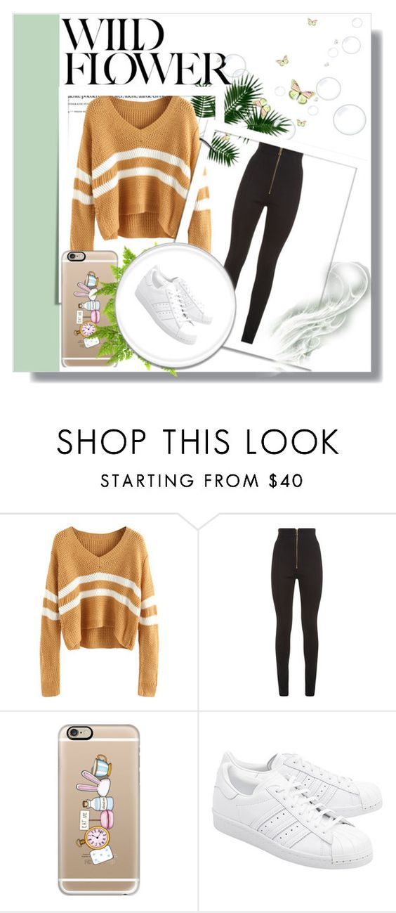 """Rosella Carter"" by stardust-133 on Polyvore featuring Balmain, Casetify and adidas Originals"