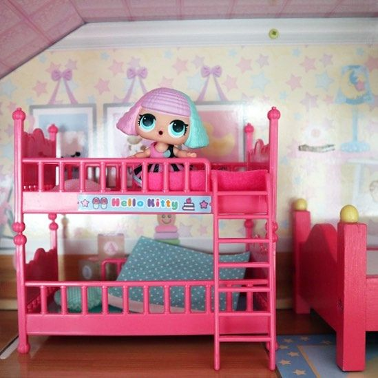 My New Hellokitty Bunk Bed Watch My Latest Youtube Video