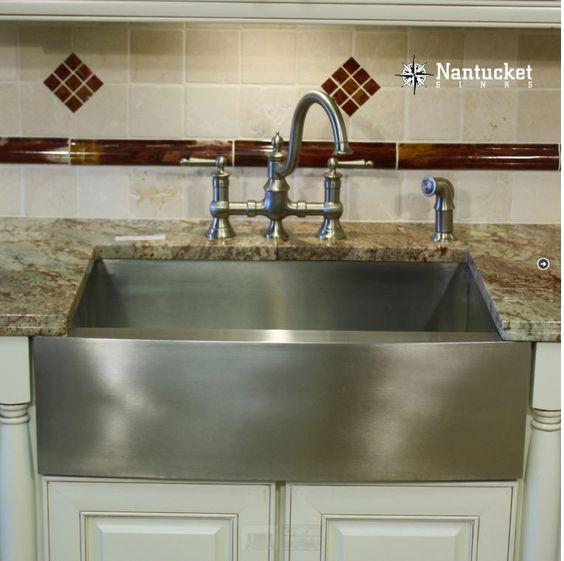 "Nantucket 33"" Stainless Steel Apron Front Farm Sink APRON332010-16"