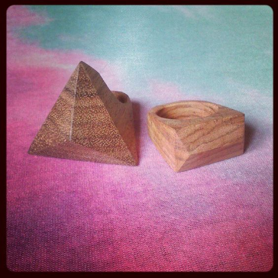 Handmade wooden rings