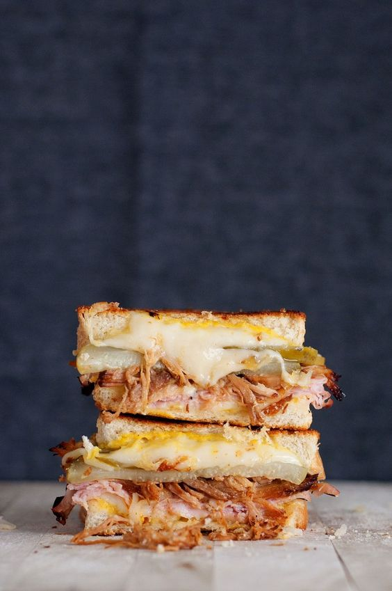 The Cuban Grilled Cheese   bsinthekitchen.com #grilledcheese #sandwich #bsinthekitchen