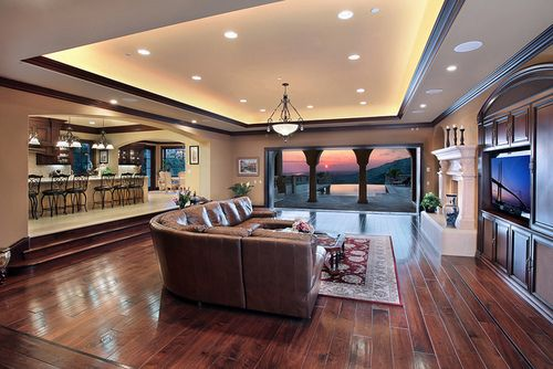 Love The Ceiling And The Step Down Into The Living Room. I Wouldnu0027t Want So  Much Empty Space Though. Would Want It Closer To The Kitchen And Possibu2026 Part 49