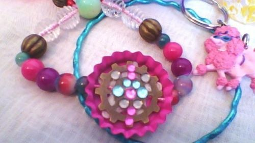 Small-Jewelry-Lot-New-and-Some-Handmade-Necklace-bracelet-ring-wood-paint-glass