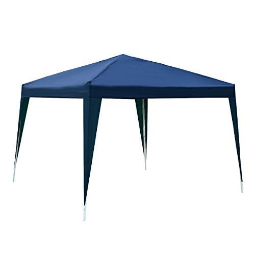 Tangkula 10 X10 Ez Pop Up Canopy Tent Gazebo Wedding Party Shelter Carry Bag Blue All4hiking Com Canopy Outdoor Gazebo Canopy