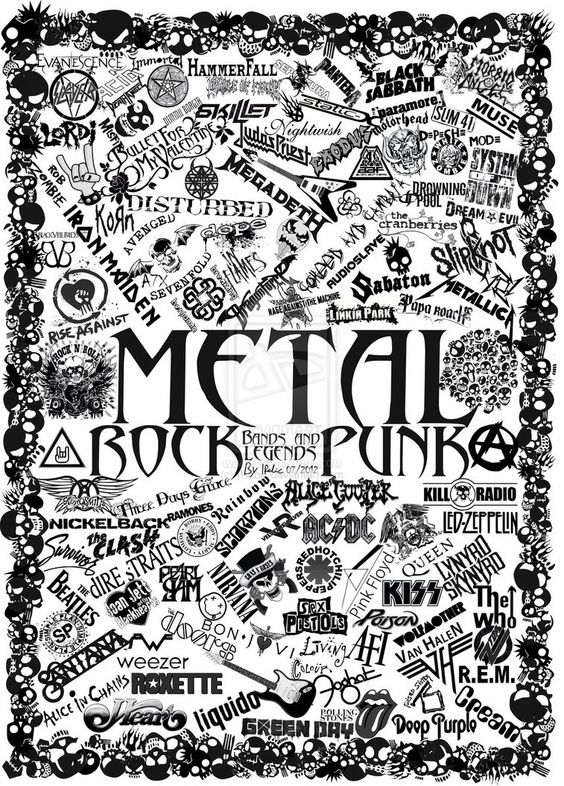 metal band art | Metal, Rock And Punk band logos By IRebic by ~IRebic on deviantART