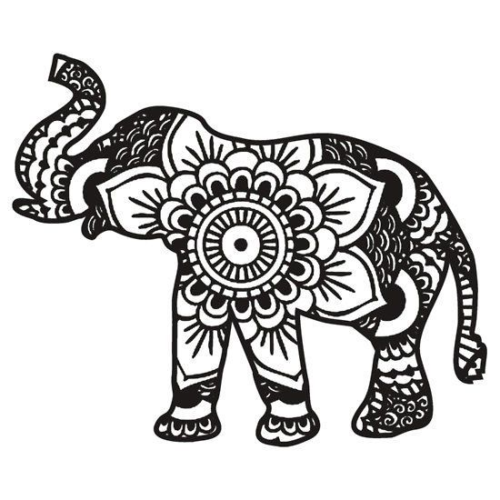 Indian Elephant Coloring Pages For Adults Elephant Coloring Page Elephant Colouring Pictures Elephant Stencil
