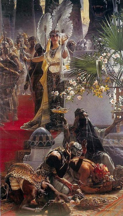 Queen of Sheba - Julius Johann Ferdinand Kronberg 1888: