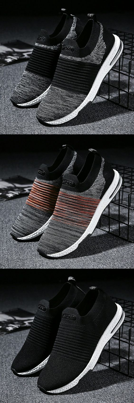 US $19.87 <Click to buy> Prikol Swag Style Men Sport Shoes Spring Autumn Breathable Mesh Knitted Men Shoes Zapatillas Hombre Tennis Footwear Zapato