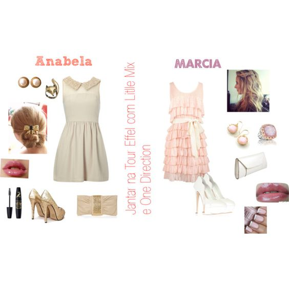 """""""Jantar na Tour Effel com Little Mix e One Direction"""" by anabela-marques-barroso on Polyvore"""