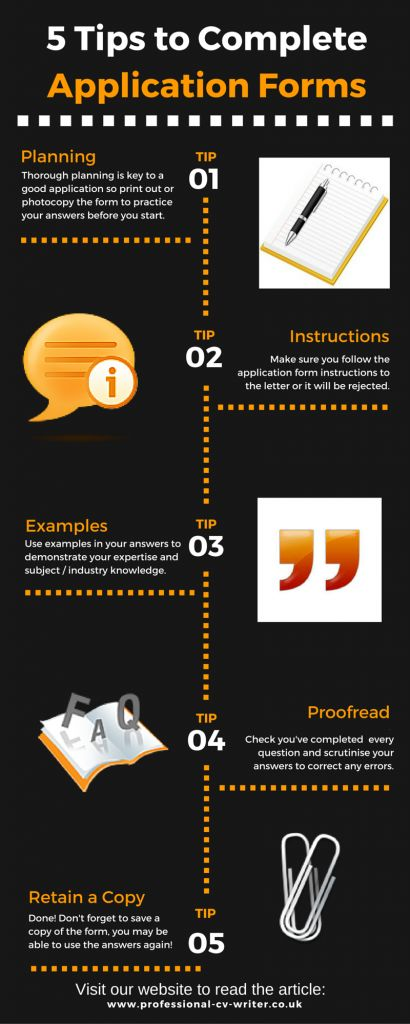 How to complete job application forms EURES Pinterest - application forms