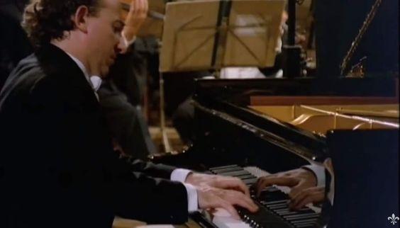 "Accompanied by the Wiener Philharmoniker, Maurizio Pollini plays Beethoven's Piano Concerto No. 5 in E-flat major, Op. 73, ""Emperor"". Conductor: Karl Böhm."