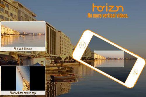 Horizon para iOS permite grabar vídeos horizontalmente sin importar como sostengas tu dispositivo.