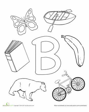 B is for coloring preschool worksheets free and letter b for Letter b coloring pages for preschoolers
