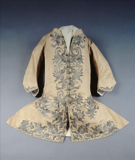 Vest, ca. 1720, French, silk