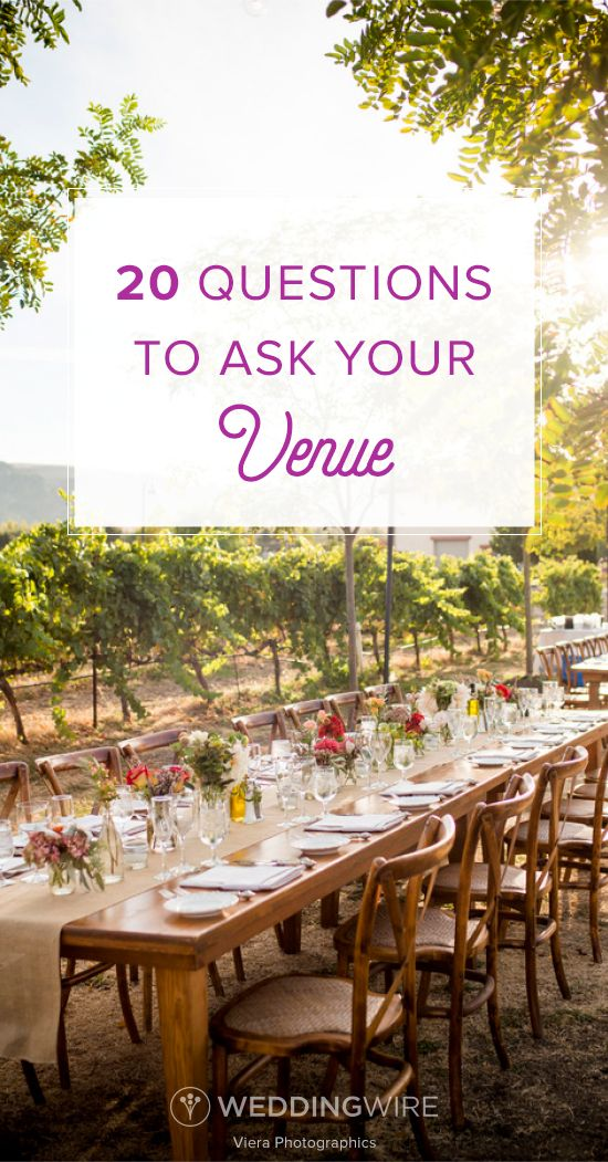 Questions To Ask Wedding Venues And Signs On Pinterest