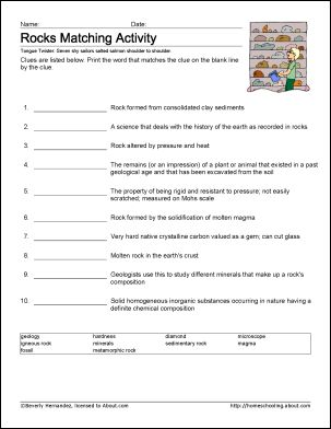 Printables Basic Science Worksheets 8 worksheets that will teach your child basic geology terms rocks vocabulary