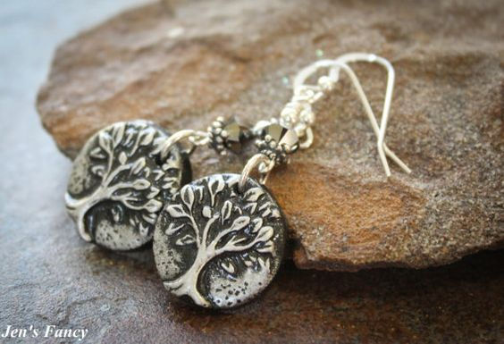 Handmade Jewelry Tree of Life Metallic and Black by JensFancy, $22.00