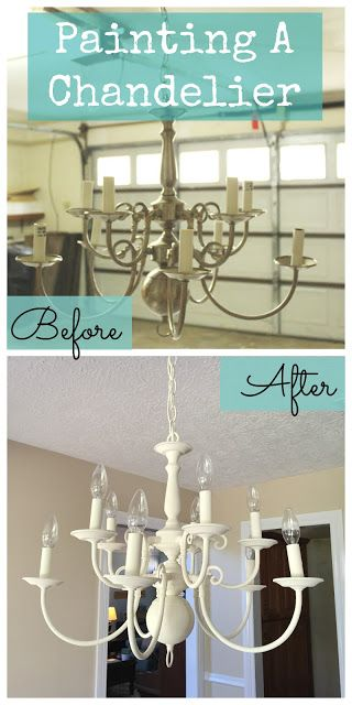 Blessed Foundation: Update a thrifted chandelier with chalk paint!