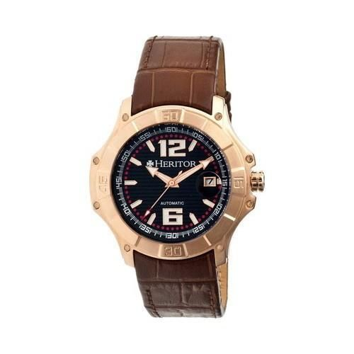 Men's Heritor Automatic HR3008 Norton Watch Brown //Rose Gold