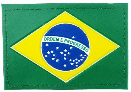 BANDEIRA DO BRASIL EMBORRACHADA COM VELCRO (macho/fêmea) - COSTURADA - PADRÃO RUE. - Excelente acabamento, qualidade garantida.