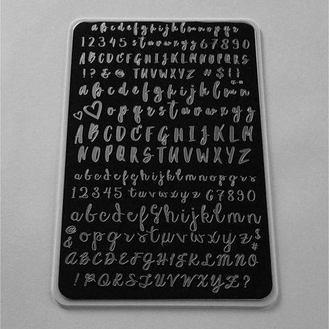 Clear Jelly Stamper- Alphabet Brush (CjS-40)